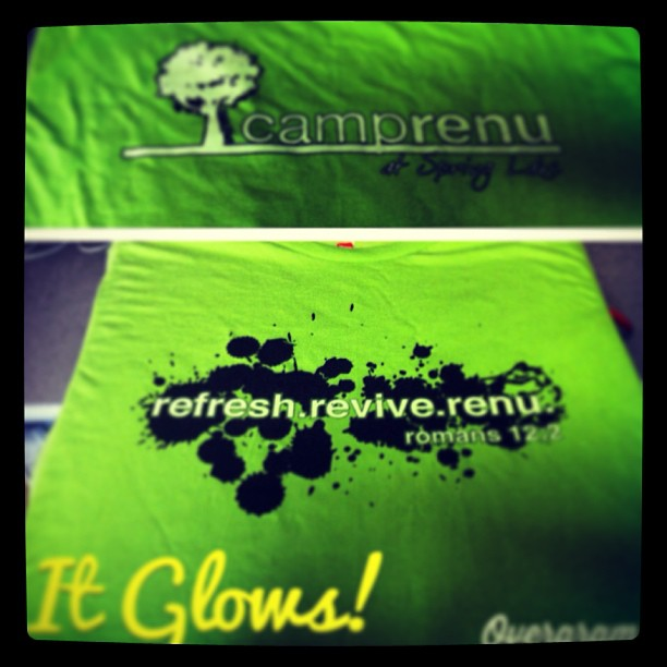 Glow in the Dark Ink for Camp Tees